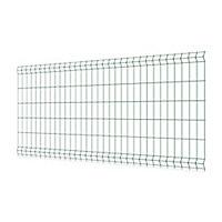Panneau de clôture grillagée maille 200 x 75 mm vert 250 x h.103 cm