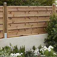 Panneau droit bois Blooma Arve marron 30mm 180 x h.90 cm