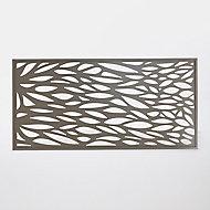 Panneau feuille aluminium Neva taupe