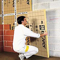Panneau isolant laine de verre Isover PB38 - 0,6 x 1,35 m ép.75 mm R. 2m²K/W (vendu au panneau)