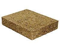 Panneau isolant thermo-acoustique en paille de riz Ecorizol, ep.145 mm