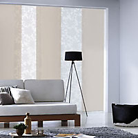 Panneau japonais Madeco Rondo dévoré blanc 45 x 260 cm