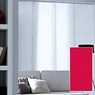 Panneau japonais tamisant Madeco Luxe rouge 45 x 260 cm
