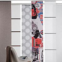 Panneau japonais tamisant Madeco uni gris 45 x 260 cm