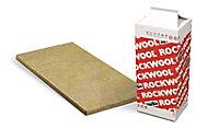 Panneau laine de roche Rockwool Rockcalm - 0,6 x 1,35 m ép.40 mm
