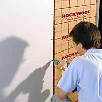 Panneau laine de roche Rockwool Rockmur kraft - 0,6 x 1,35 m ép.45 mm (lot de 14 panneaux)