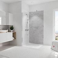 Panneau mural salle de bains 100 x 210 cm, Schulte DécoDesign Décor, pierre gris clair