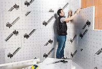 Panneau polyuréthane haute performance emboîtable multi-usage Soprema 120 x 60 cm ép. 25 mm R. 1 m²K/W (vendu au panneau)