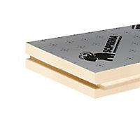 Panneau polyuréthane haute performance emboîtable multi-usage Soprema 120 x 60 cm ép. 80 mm R. 3,70 m²K/W (vendu au panneau)