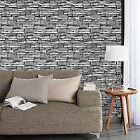 Papier peint Arrou gris