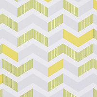 Papier peint duplex Fresco Chevron vert