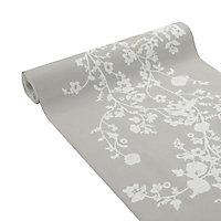 Papier peint expansé sur intissé Lutèce Naf Naf branc taupe