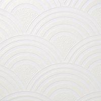 Papier peint expansé vinyle sur intissé Mubala Artdeco GoodHome blanc