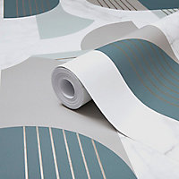 Papier peint intérieur GoodHomeEanness Marbre bleu