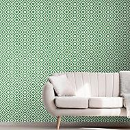Papier peint intissé géométrique square vert