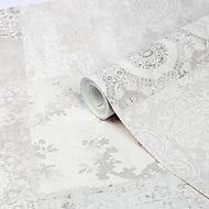 Papier peint intissé GoodHome Meral gris