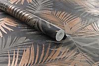 Papier peint intissé Jungle noir or