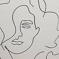Papier peint Intissé Piero 1005x53cm GoodHome Blanc cassé