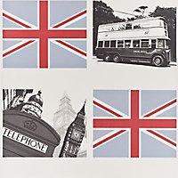 Papier peint Londres multicolore