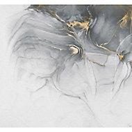 Papier peint panoramique encre doré 300x280cm