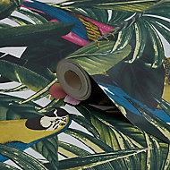 Papier peint papier duplex Cleome multicolore