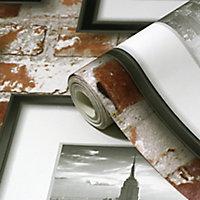 Papier peint papier duplex Kerneri rouge