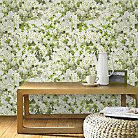Papier peint sur papier Fleur de pommier vert
