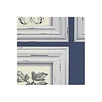 Papier peint vinyle Cadre naturaliste bleu