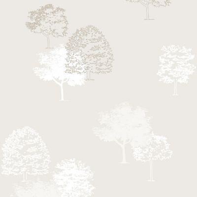 Papier Peint Vinyle Expanse Sur Intisse Arbres Beige Castorama