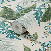 Papier peint vinyle sur intissé Astile vert