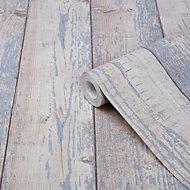 Papier peint vinyle sur intissé Bucy GoodHome bleu clair