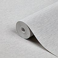 Papier peint vinyle sur intissé GoodHome Arceau gris