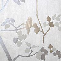 Papier peint vinyle sur intissé GoodHome Bromus crème