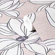 Papier peint vinyle sur intissé GoodHome Filago lilas