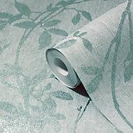 Papier peint vinyle sur intissé GoodHome Hirta vert d'eau