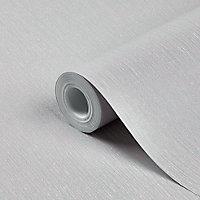 Papier peint vinyle sur intissé GoodHome Lery gris clair