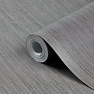 Papier peint vinyle sur intissé GoodHome Lery gris foncé