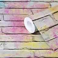 Papier peint vinyle sur intissé GoodHome Lokta multicolore