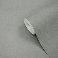 Papier peint vinyle sur intissé GoodHome Moivre gris 53cm