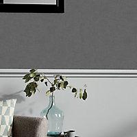 Papier peint vinyle sur intissé GoodHome Moivre gris anthracite 53cm