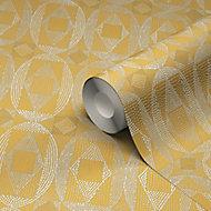 Papier peint vinyle sur intissé GoodHome Ortie jaune