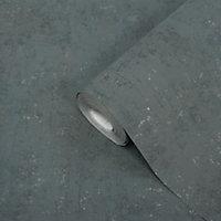 Papier peint vinyle sur intissé GoodHome Sarry anthracite 53cm
