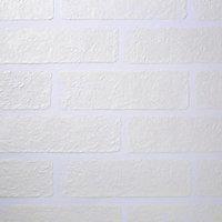 Papier peint vinyle sur intissé Grewia GoodHome blanc