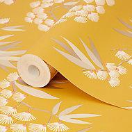 Papier peint vinyle sur intissé jardin japonais GoodHome ocre