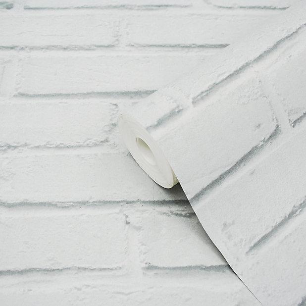 Papier Peint Vinyle Sur Intisse Luynes Goodhome Blanc Castorama