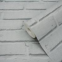 Papier peint vinyle sur intissé Luynes GoodHome gris clair