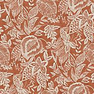 Papier peint vinyle sur intissé Mae terracotta 53cm