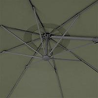 Parasol déporté GoodHome Mallorca kaki ø350 cm
