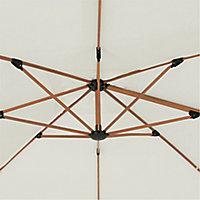 Parasol déporté GoodHome Naya peyote 300 x 300 cm