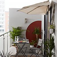 Parasol de balcon GoodHome Carambole gris